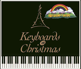 keyboards at Christmas